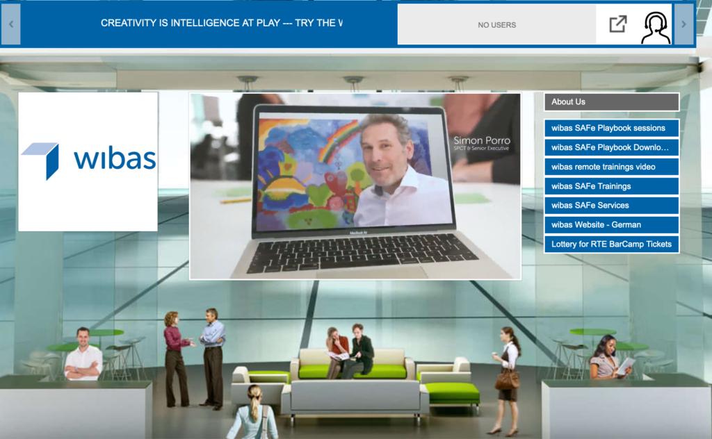 virtueller wibas Stand auf dem European SAFe Summit 2020