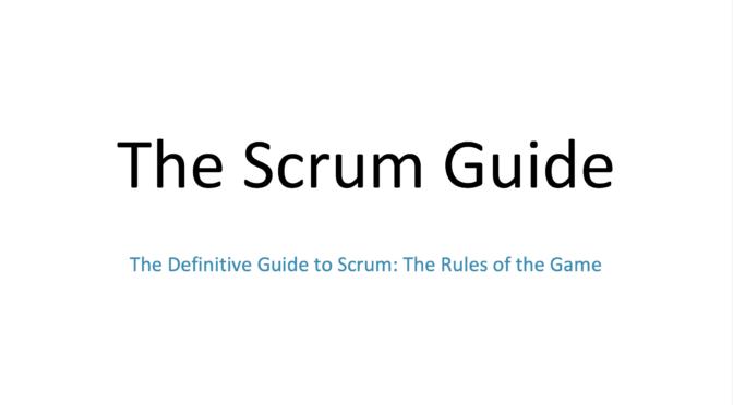 Der neue Scrum Guide 2020